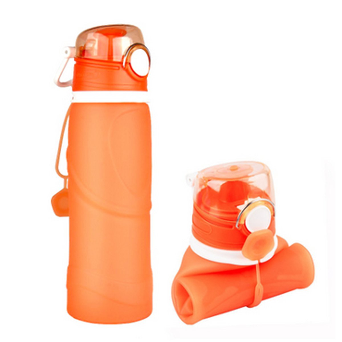 750ml Portable Collapsible Silicone Travel Foldable Water Bottle Outdoor Cycling