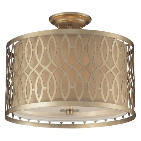 ELK Lighting Estonia 31122/3 Semi-Flush - Aged Silver - 16W in.