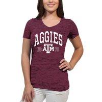 Texas A&M Aggies Text Overlay Women's/Juniors Team Short Sleeve V Neck Tee Shirt