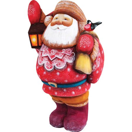 G Debrekht Masterpiece Treasure Keeper Santa With Bird Figurine