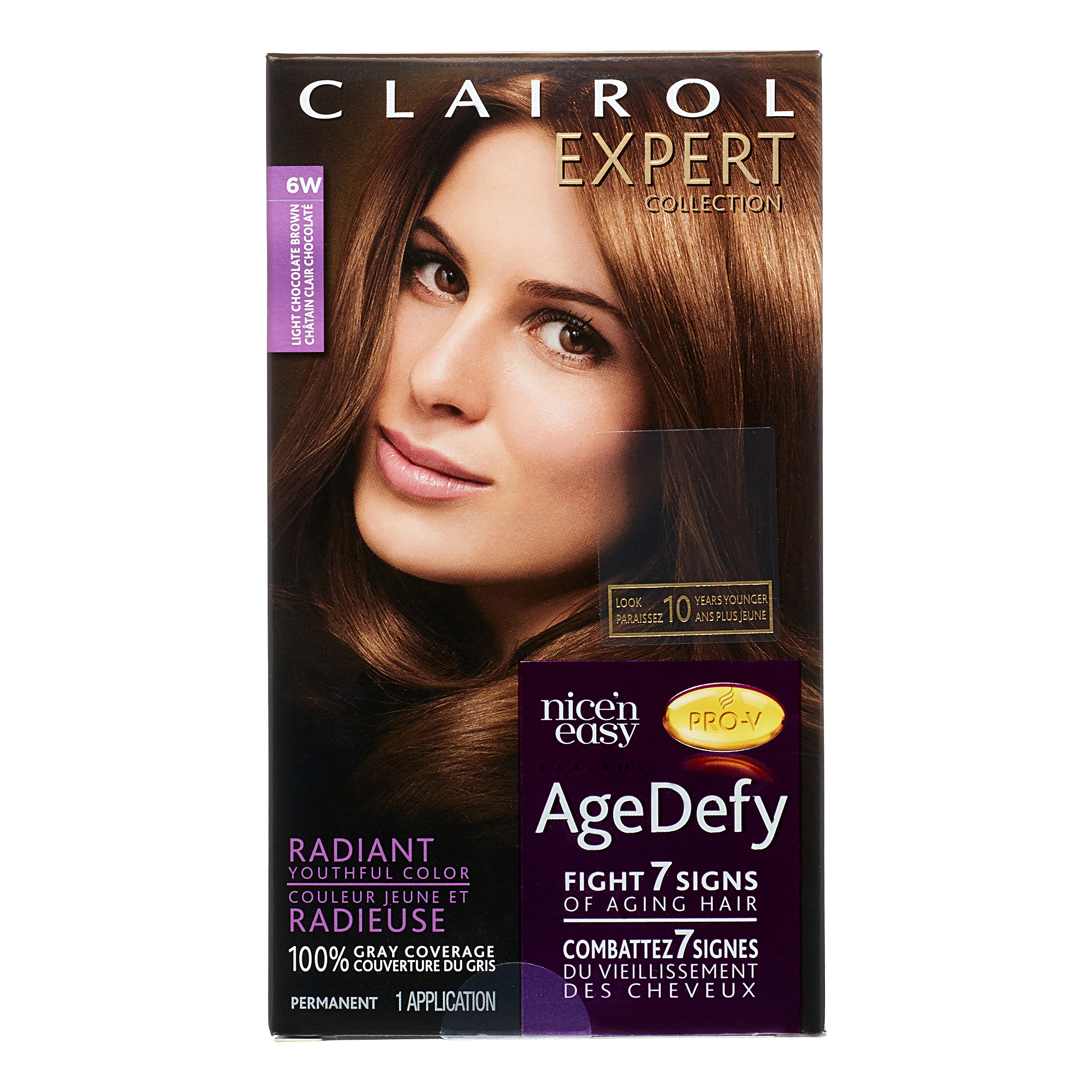 Clairol Expert Collection Age Defy Permanent Hair Color 6w Light