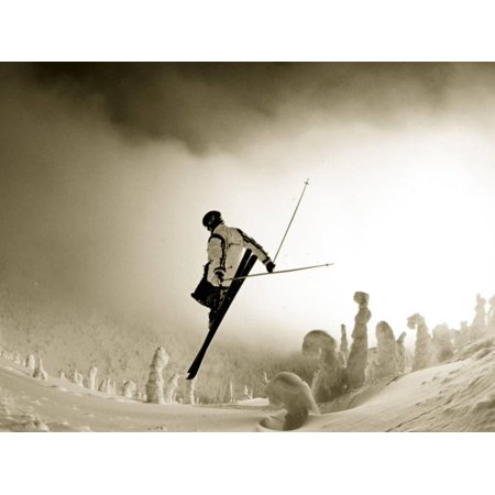 Ski Jump in Fog at Big Mountain Resort, near Whitefish, Montana, USA Print Wall Art By Chuck