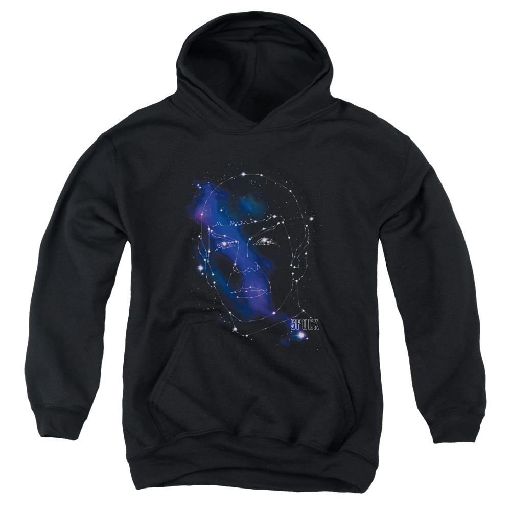 Star Trek Next Generation TV Series Spock Constellations Big Boys Youth Hoodie