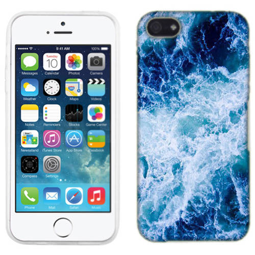 Mundaze Deep Ocean Waves Phone Case Cover for Apple iPhone SE/5S/5