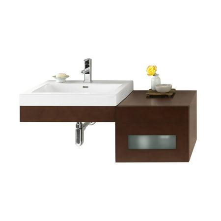 Ronbow Adina Inch Wall Mount Bathroom Vanity Set In Dark Cherry - 41 inch bathroom vanity