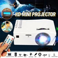 UNIC Portable LED LCD Home Cinema Theater Mini Video Movie Game Projector with HDM USB AV Interfaces and Remote Control