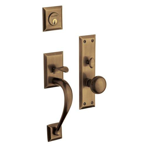 Baldwin  6571.ENTR  Keyed Entry  Concord  Mortise Lock  Single Cylinder  ;Satin Brass and Black