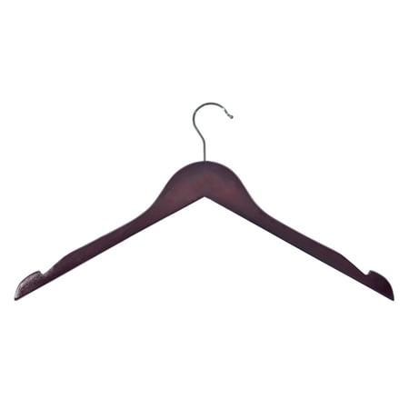 - Wood Shirt Hangers - Cherry Finish (10-Pack)