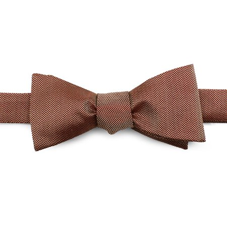 Ox and Bull Trading Co Brick Red Solid Color Silk Bow Tie...