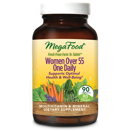 MegaFood Women Over 55 One Daily - 90 Tablets - Supports Optimal Health & (Aller 7 Support 90 Tablets)