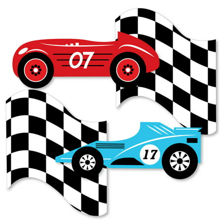 Let's Go Racing - Racecar - Decorations DIY Race Car Birthday Party or Baby Shower Essentials - Set of 20 - Cars Birthday Decorations