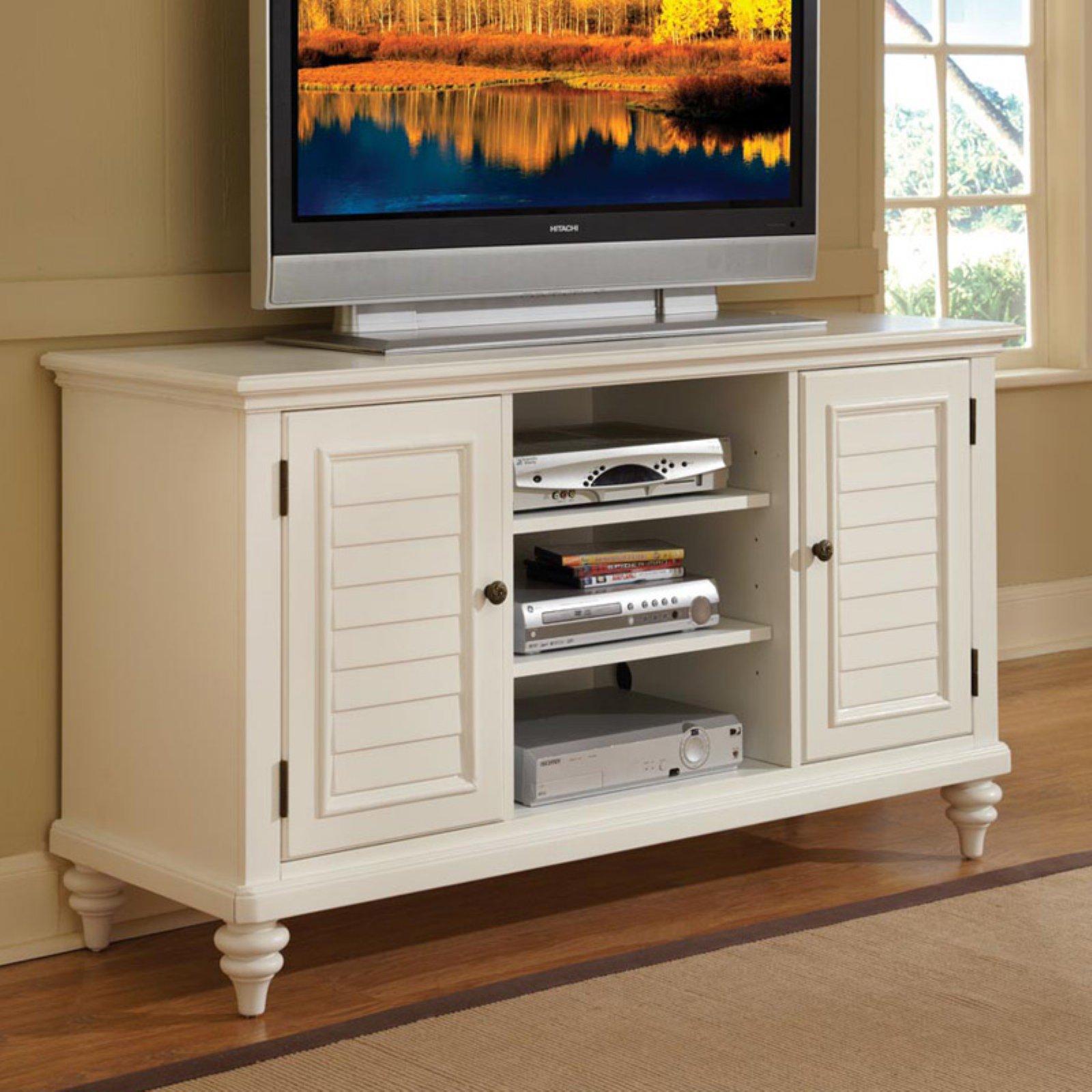 Bermuda Brushed White TV Credenza