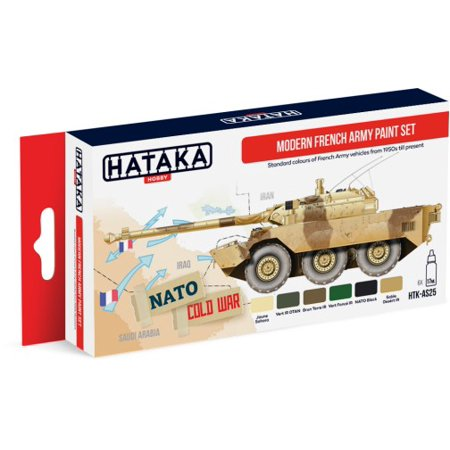 Red Line (Airbrush-Dedicated): Modern French Army Vehicles 1950s-Present  Paint Set (6 Colors) 17ml Bottles