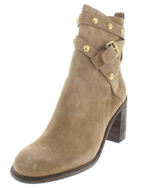 81907cd4e347 Product Image G by Guess Womens Janis Suede Stacked Heel Ankle Boots Tan 40  Medium(B