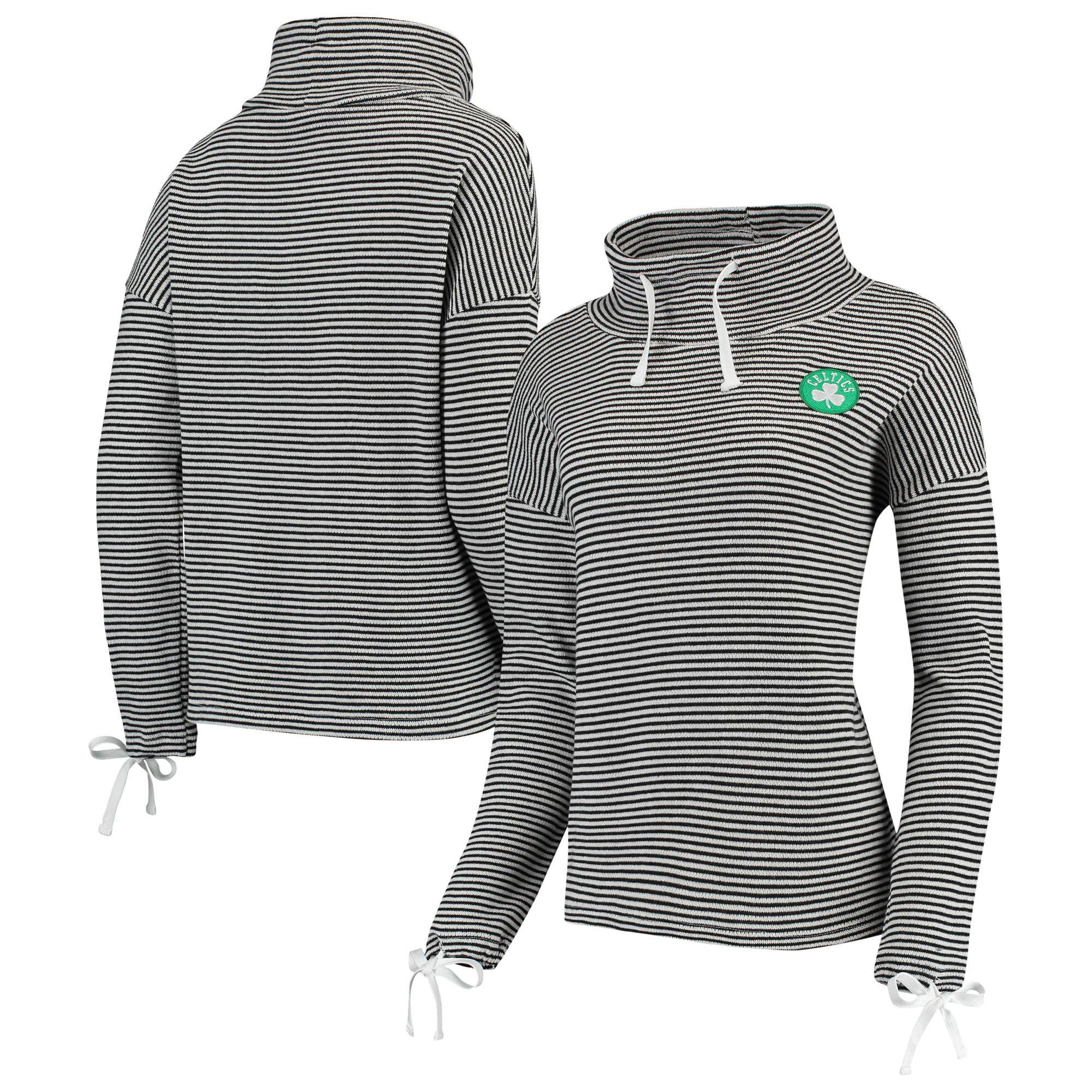 Boston Celtics Women's Sunday-Funday Funnel Neck Knit Shirt - Black