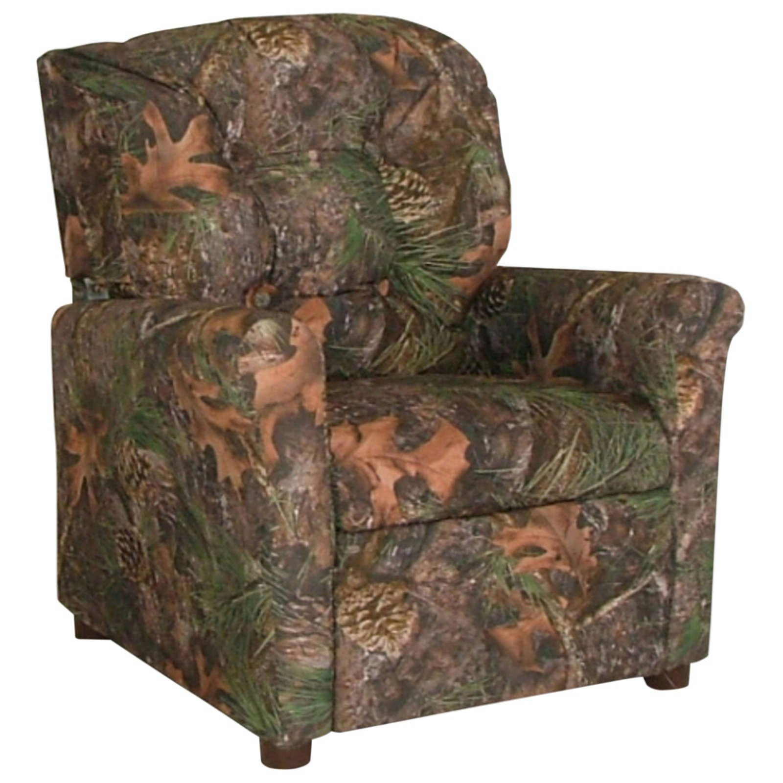 Dozydotes 4-Button Kid Recliner - Camouflage Brown