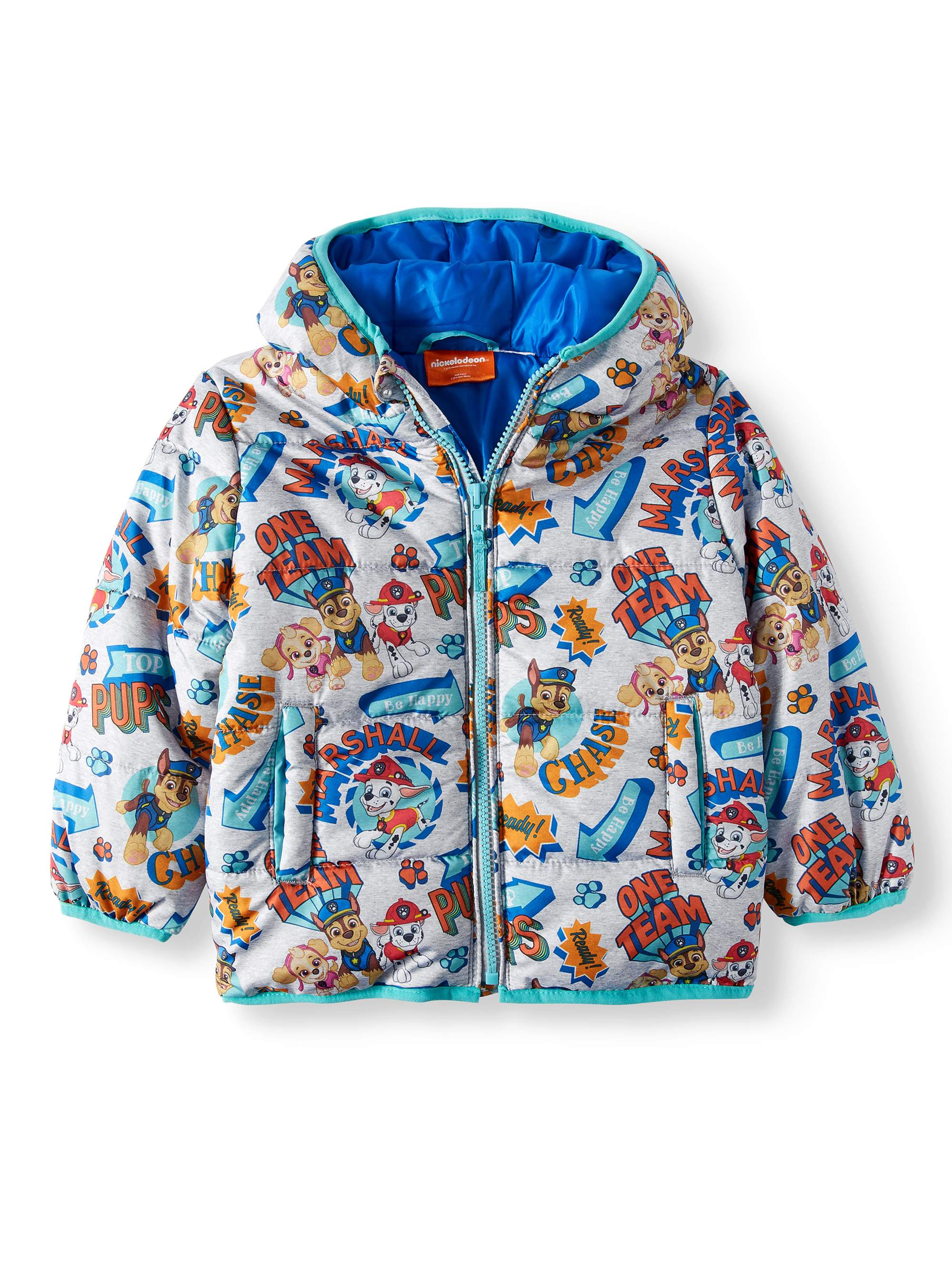 All-Over Print Hooded Puffer Jacket Coat (Toddler Boys)