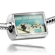 Neonblond Charm Park City Mountain Ski Resort - Utah Ski Resort 925 Sterling Silver Bead
