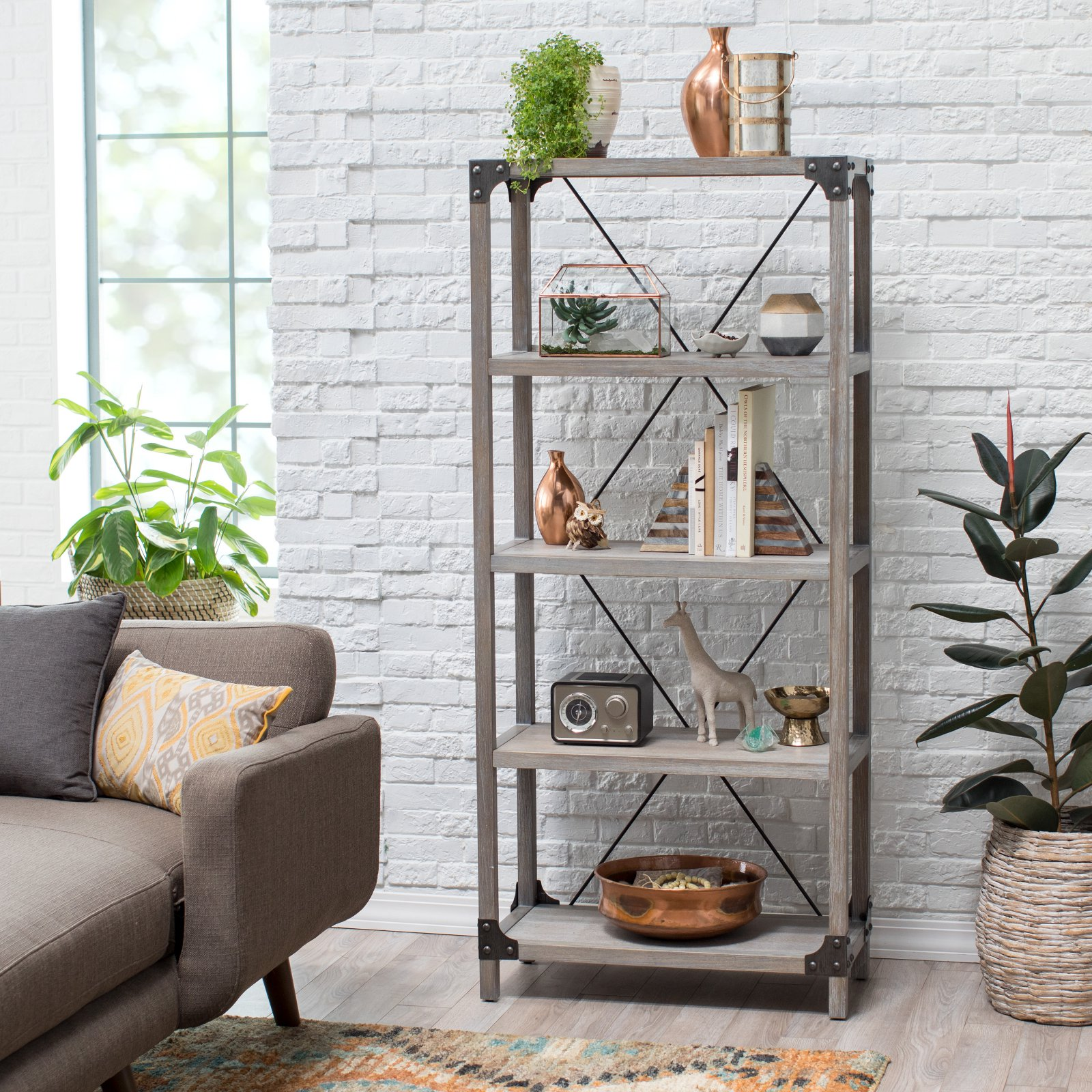Belham Living Jamestown Rustic Bookcase