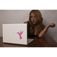 Hummingbird Decal - Light Pink Decal for Macbook and Laptops