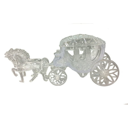 12 Plastic Cinderella Horse Carriages for Favors, Sweet 16, Weddings, and Other Events - Clear](Sweet 16 Favors)