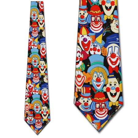 Big Clowns Allover Necktie Mens Tie - Clown Ties