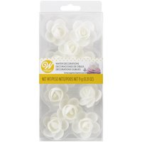 Wilton Rose Edible Wafer Paper Decorations, 10-Count
