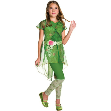 DC Superhero Girls: Poison Ivy Deluxe Child Halloween Costume - Girl Transformer Halloween Costume