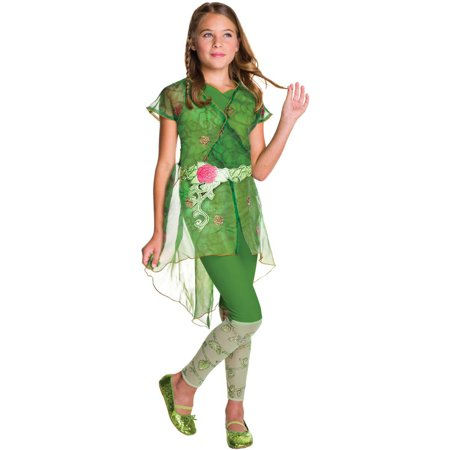 DC Superhero Girls: Poison Ivy Deluxe Child Halloween Costume (Funny Ideas For Girl Halloween Costumes)