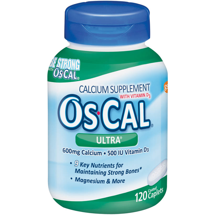 Os-Cal Ultra Calcium And Vitamin D3 Supplement, Coated Caplets, 120 Count