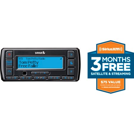 SiriusXM-SSV7V1 Stratus 7 Satellite Radio with Vehicle Kit (Black) with Free 3 Months Satellite and Streaming Service