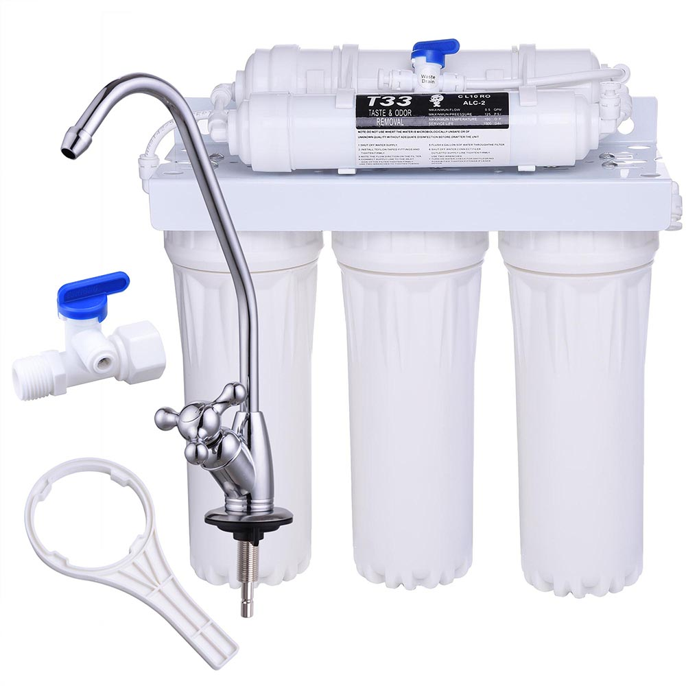 Yescom 5-Stage Hollow Fiber Ultrafiltration Water Filter System Filtration for Home Kitchen Drinking