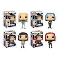 Pop! Television: Sydney Bristow Blonde hair, in a Goth style, a School Girl or as a Redhead! Vinyl Figures Set of 4 By Alias