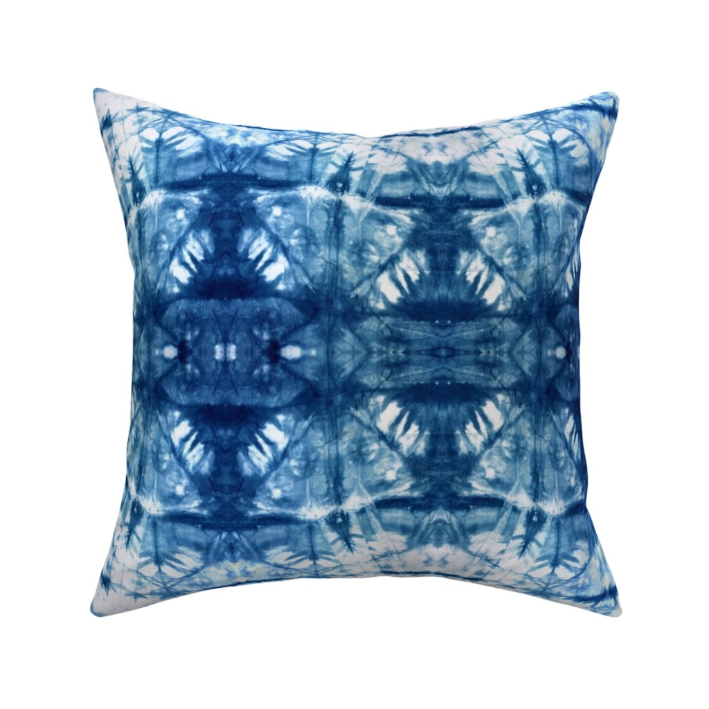 Indigo Tie Dye Bohemian Shibori Throw Pillow Cover W Optional Insert By Roostery Walmart Com Walmart Com