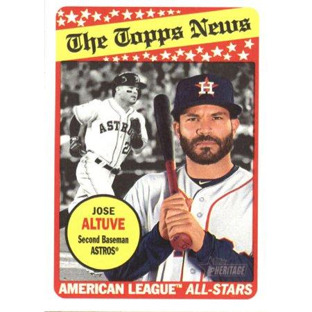 2018 Topps Heritage 78 Jose Altuve Houston Astros Baseball Card