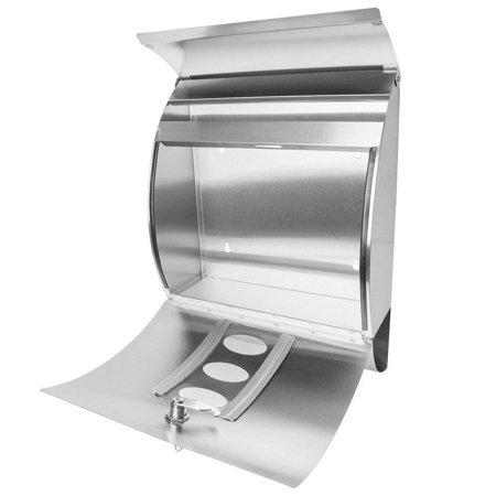 Gymax Wall Mount Mail Box Stainless Steel - image 9 de 10