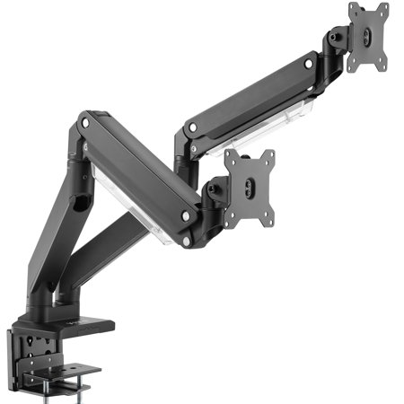 VIVO Dual Monitor Counterbalance Height Adjustable Arms Desk Mount Stand | Fits Screens up to 32