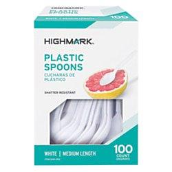 Office Depot Medium-Length Polystyrene Spoons, Pack Of 100,