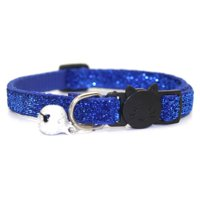 Raypadula Pet Sequin Glitter Collar Cute Pet Safety Personalized Breakaway Cat Collar With Bell