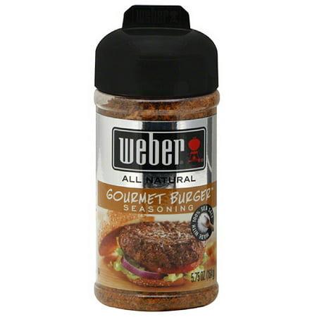 Weber Gourmet Burger Seasoning, 5.75 oz, (Pack of