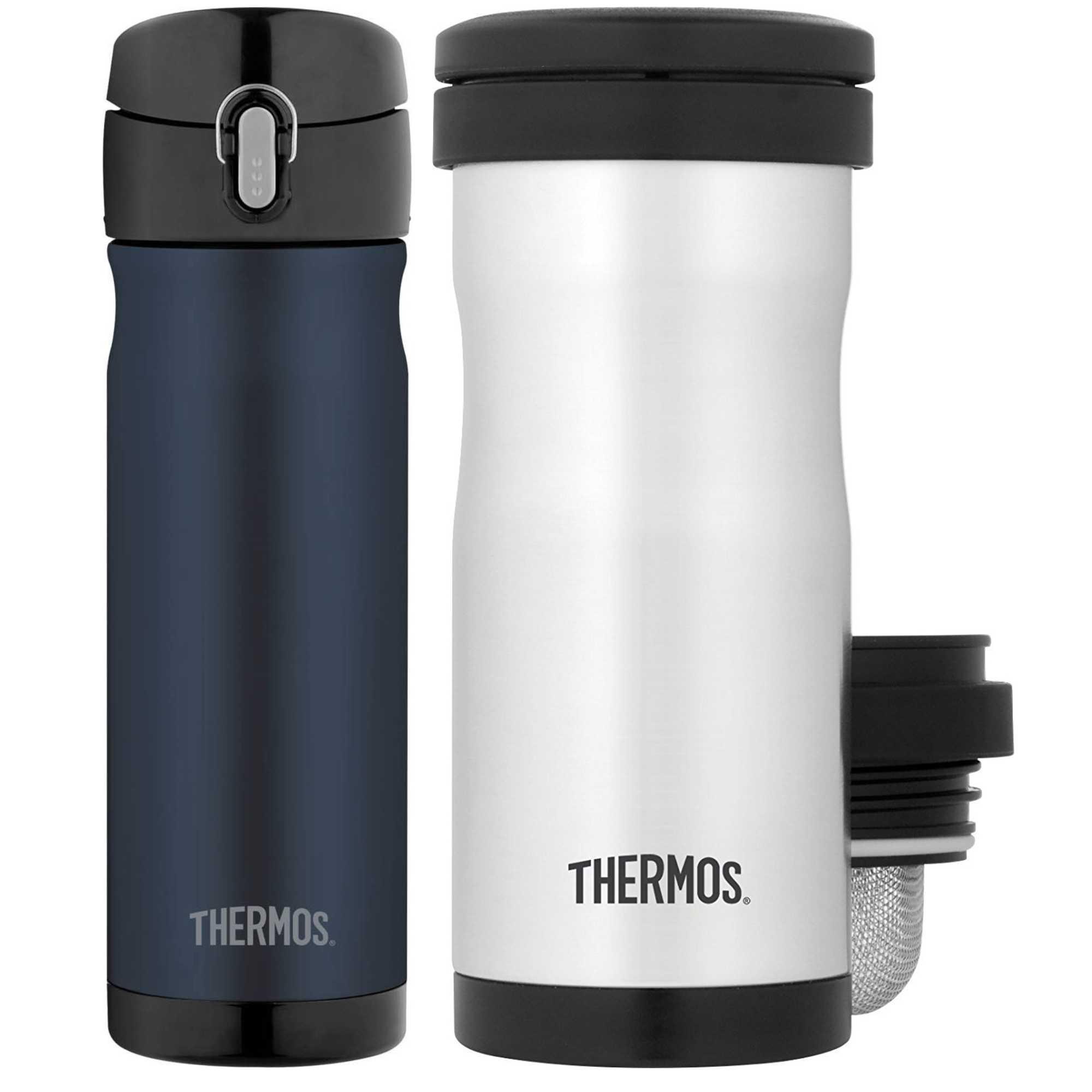 Thermos Vacuum Insulated 16 oz Commuter Bottle & 12oz Tea...
