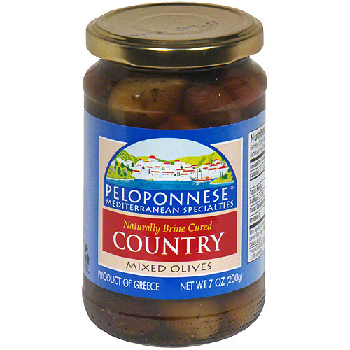 Peloponnese Gourmet Country Mixed Olives, 11.3 oz (Pack of 6)