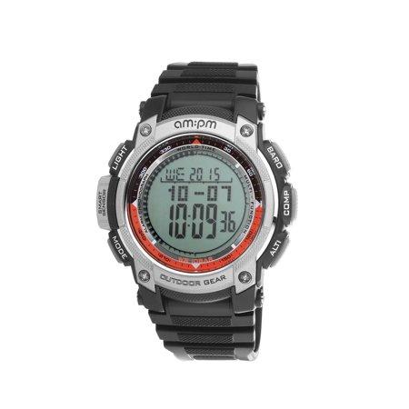 AM:PM PC167-G406 Men's Outdoor Gear Digital Sports Watch Barometer, Altimeter & (High Gear Aerial Altimeter)