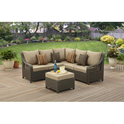 Better Homes and Gardens Meadow Hill 4-Piece Open Weave Sectional Set