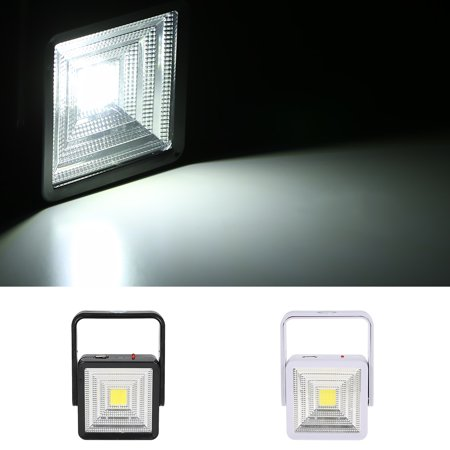 Solar Powered Energy LED Outdoor Light with USB Charging Port Portable Rechargeable Square Design for Camping Fishing Hiking Emergency - image 1 de 7