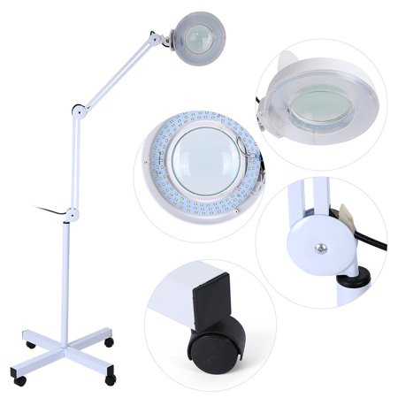Lights & Lighting 8xmagnifying Led Floor Lamp With Stand Flexible Adjustable Cold Light For Reading Medical Beauty Facial Steamer Salon Spa