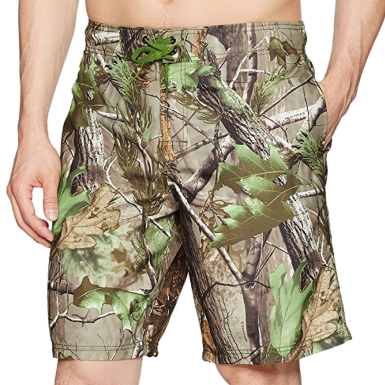 Realtree Mens APG-HD Camouflage Swim Trunks Board Shorts