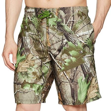 b6d1a2b215 Realtree - Mens APG-HD Camouflage Swim Trunks Board Shorts - Walmart.com