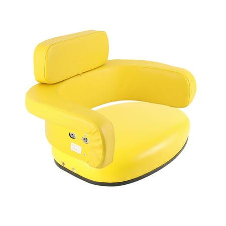 JD6000-SET Yellow Vinyl Seat Cushion Set for John Deere Tractor 105 45 55 +