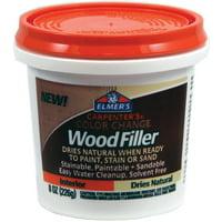 Elmer's Carpenter's Color Change Wood Filler, Natural, 8 oz